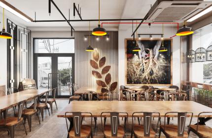 THIẾT KẾ QUÁN CAFE- VINHOMES CENTRAL PARK