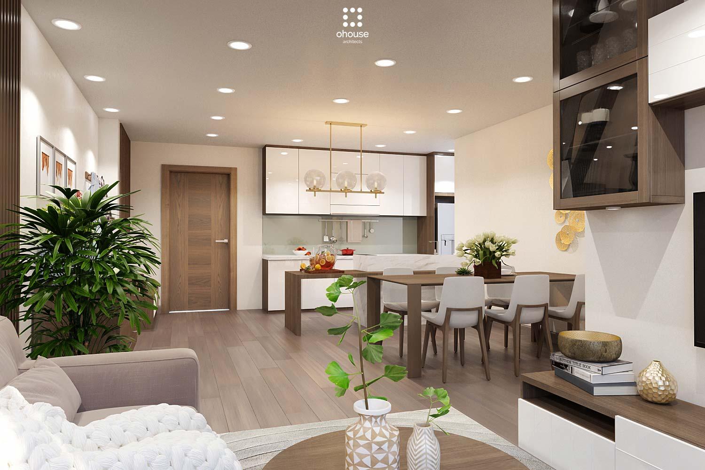 thiết kế nội thất chung cư tại Hồ Chí Minh Trung Apartment 2 1566995050