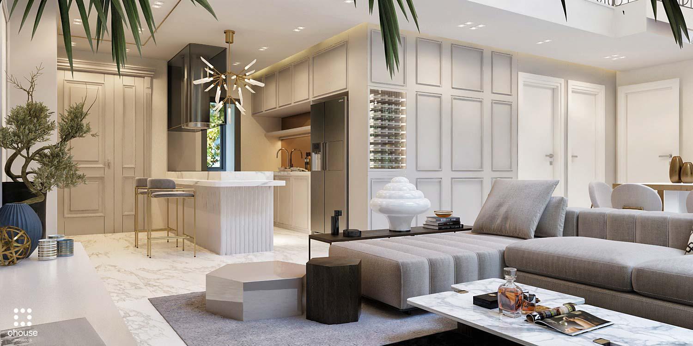 Thiết kế nội thất Chung Cư tại Hồ Chí Minh Phương Án Căn Hộ Duplex 1586014386 2