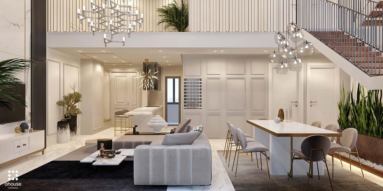 Thiết kế nội thất Chung Cư tại Hồ Chí Minh Phương Án Căn Hộ Duplex 1586014386 4