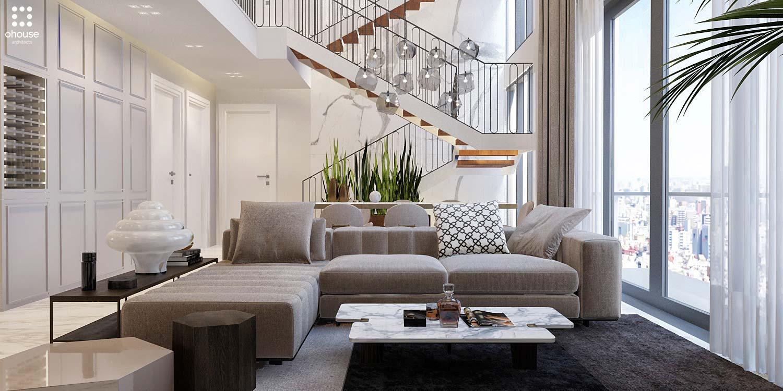 Thiết kế nội thất Chung Cư tại Hồ Chí Minh Phương Án Căn Hộ Duplex 1586014387 1