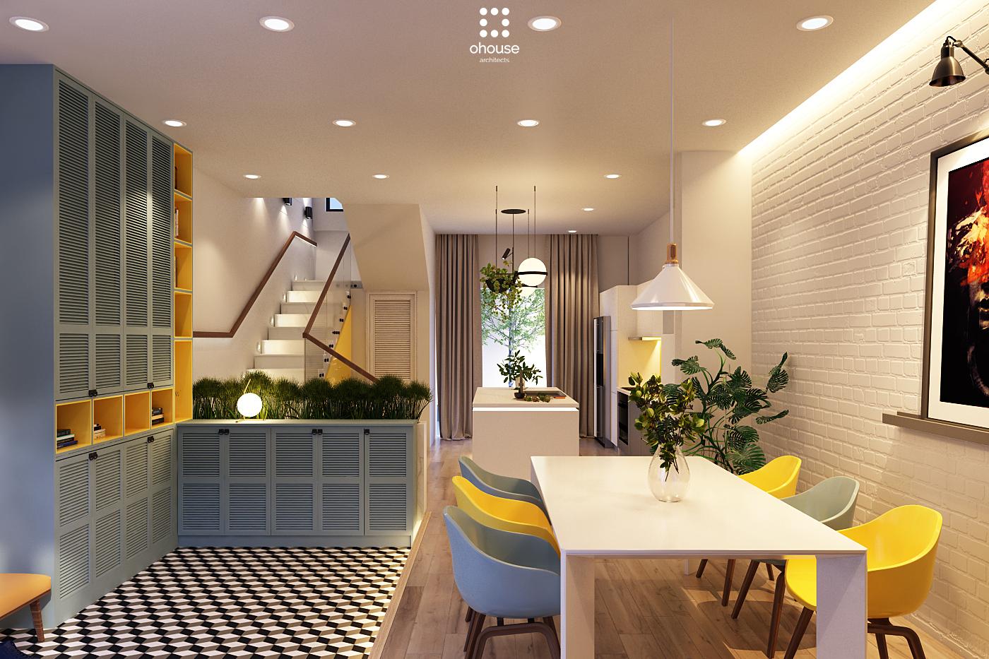 Thiết kế nội thất Nhà Mặt Phố tại Hồ Chí Minh Nội thất Nhà Phố Hà Đô 1590593174 3