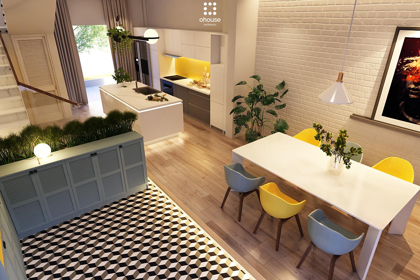 Thiết kế nội thất Nhà Mặt Phố tại Hồ Chí Minh Nội thất Nhà Phố Hà Đô 1590593182 4