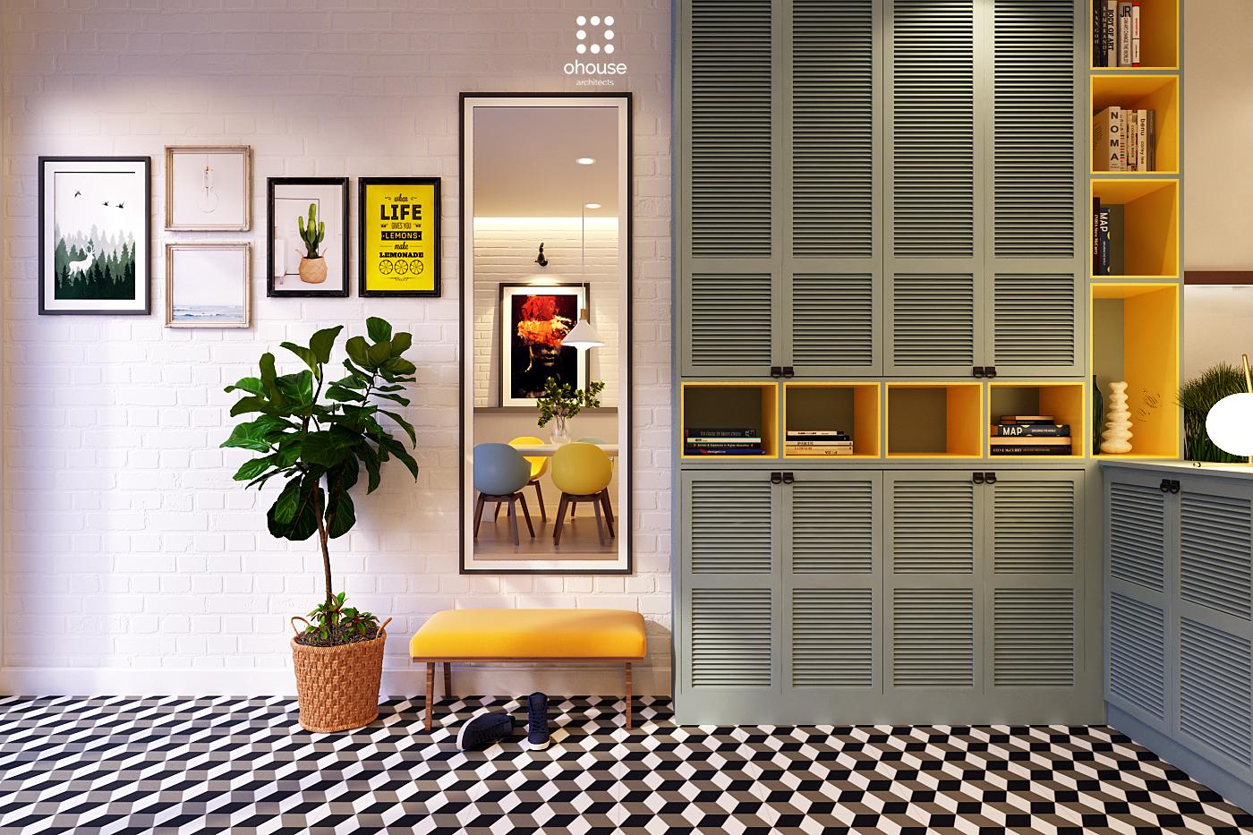 Thiết kế nội thất Nhà Mặt Phố tại Hồ Chí Minh Nội thất Nhà Phố Hà Đô 1590593190 5