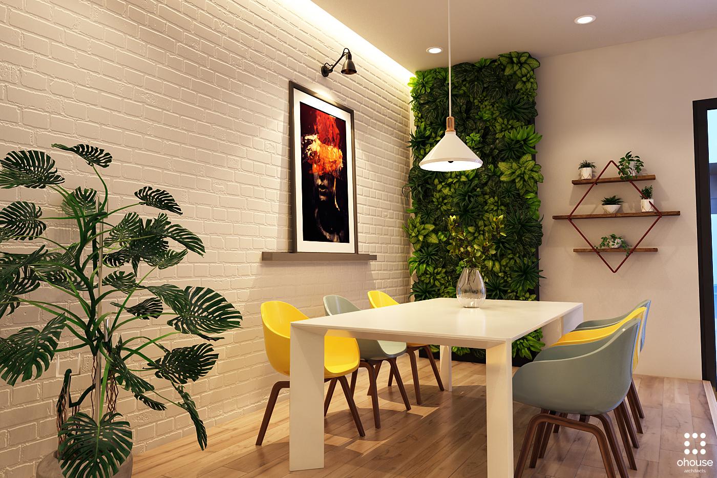 Thiết kế nội thất Nhà Mặt Phố tại Hồ Chí Minh Nội thất Nhà Phố Hà Đô 1590593208 6