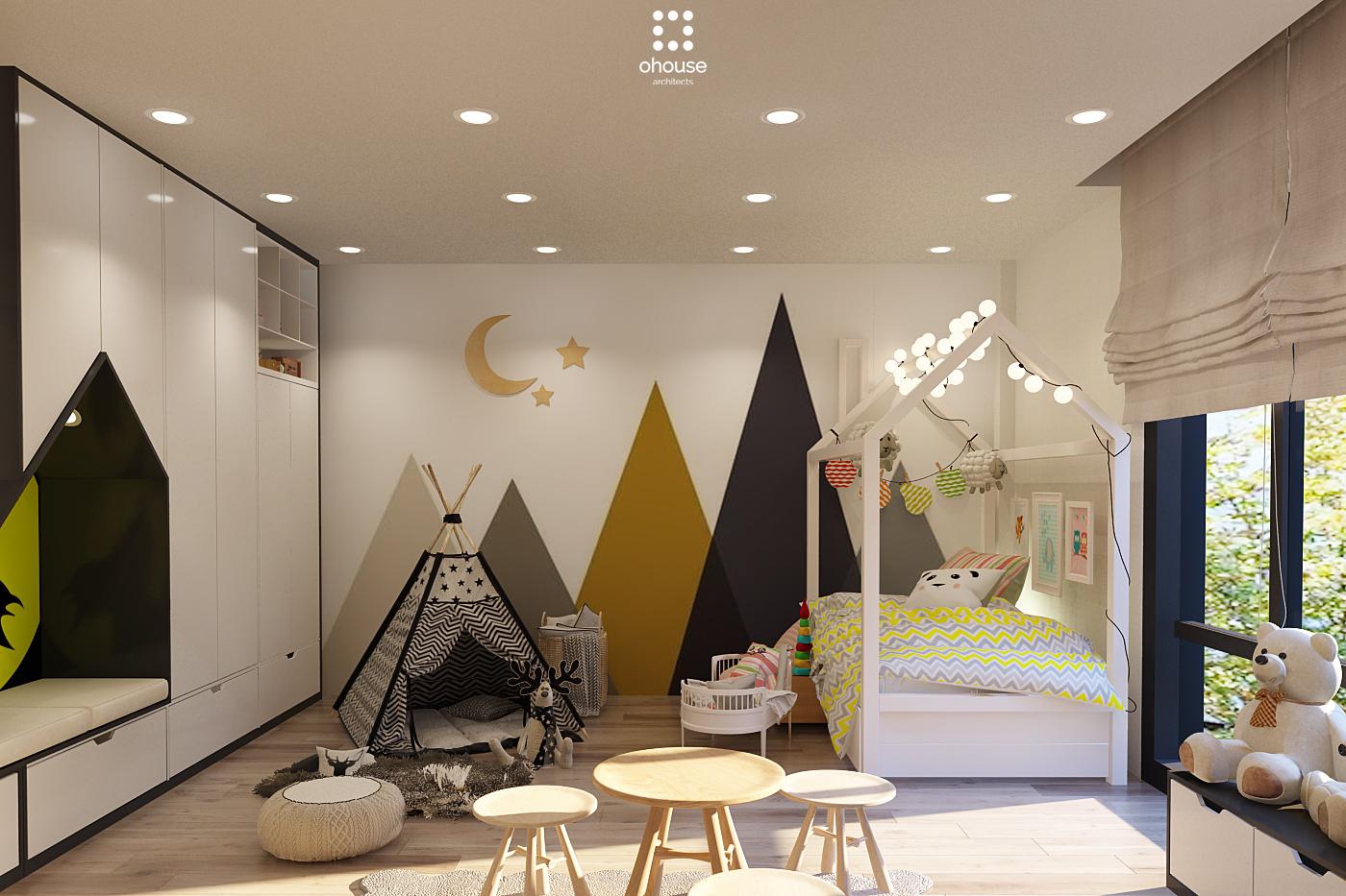 Thiết kế nội thất Nhà Mặt Phố tại Hồ Chí Minh Nội thất Nhà Phố Hà Đô 1590593213 9