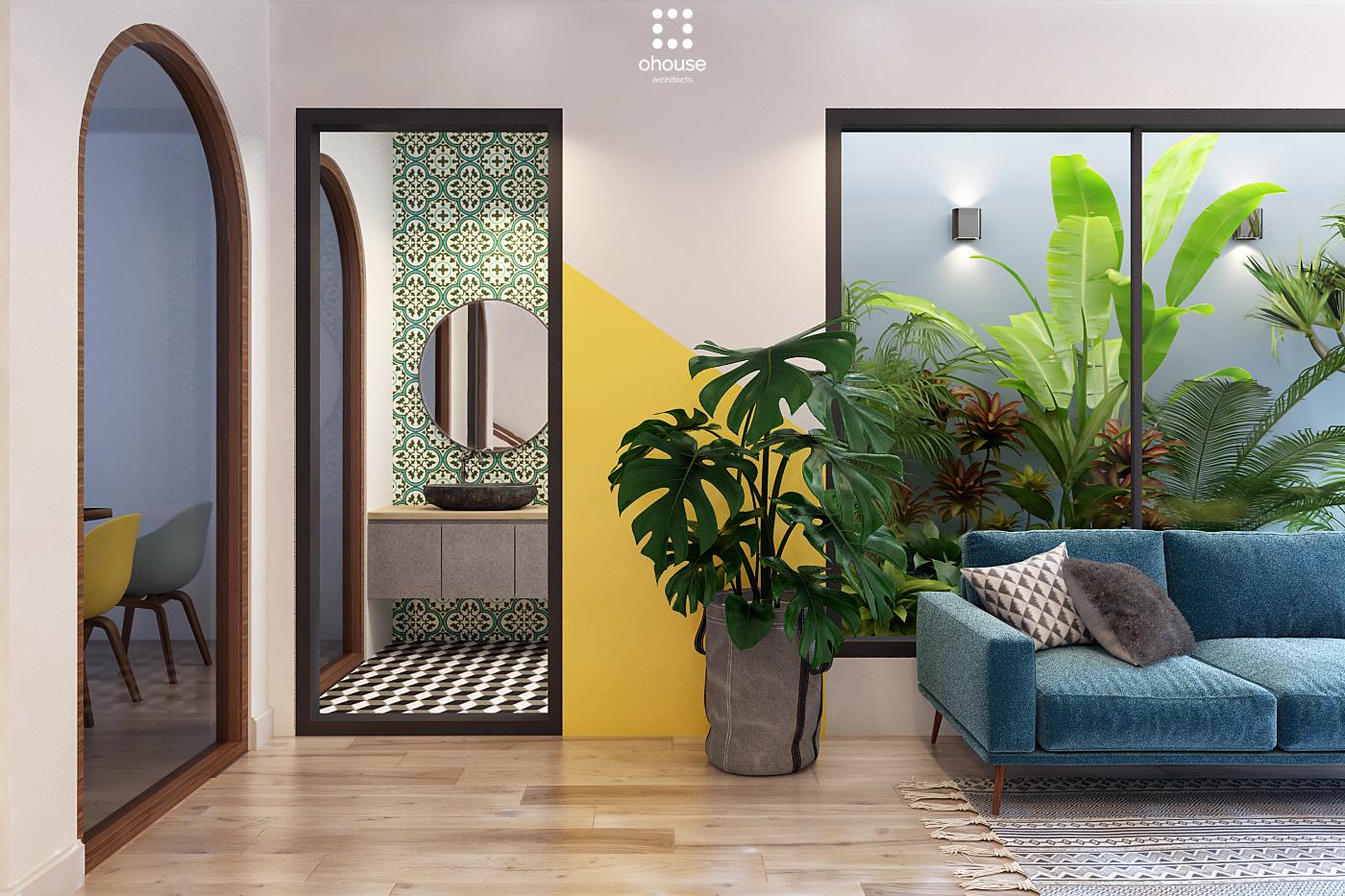 Thiết kế nội thất Nhà Mặt Phố tại Hồ Chí Minh Nội thất Nhà Phố Hà Đô 1590593251 13