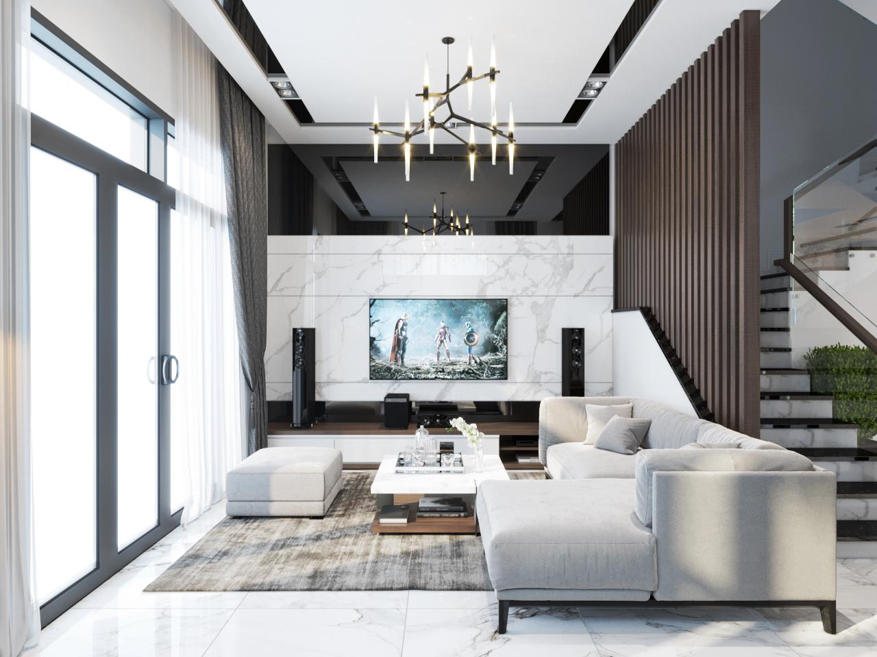 thiết kế nội thất Nhà Mặt Phố tại Hà Nội Nhà Phố - Văn Tiến Dũng 2 1562827641