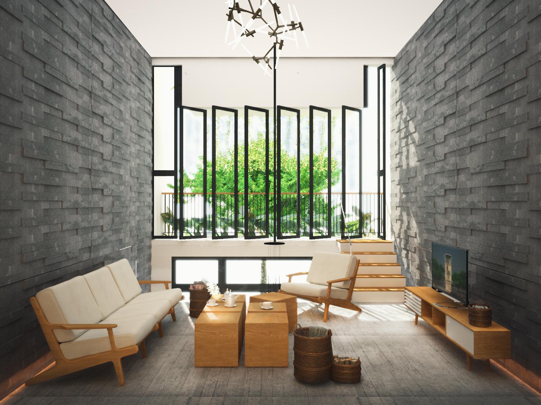 thiết kế Nhà Mặt Phố 3 tầng tại Đà Nẵng The Balcony in House 1 1550158203