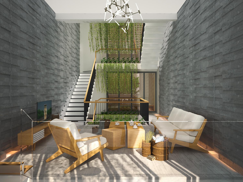 thiết kế Nhà Mặt Phố 3 tầng tại Đà Nẵng The Balcony in House 2 1550158202