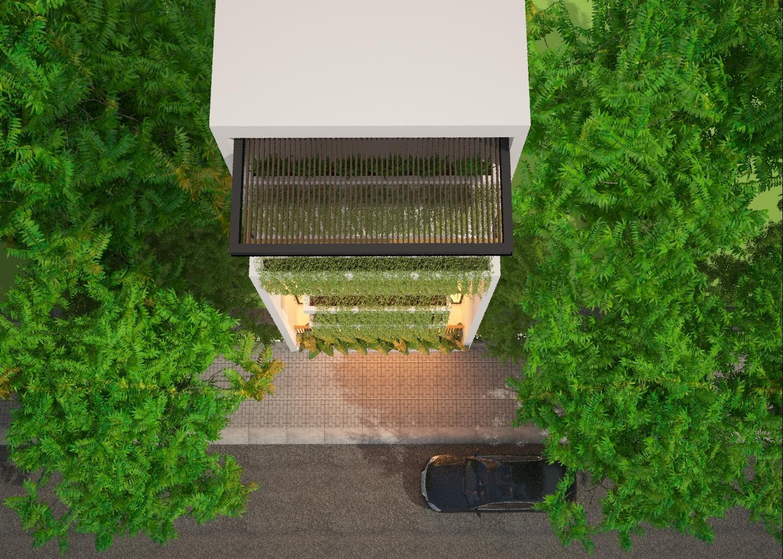 thiết kế Nhà Mặt Phố 3 tầng tại Đà Nẵng The Balcony in House 4 1550158203