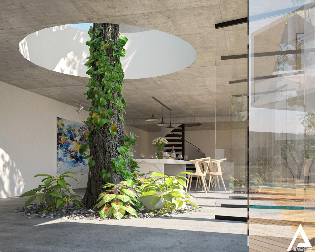 thiết kế Biệt Thự Villa hiện đại 03