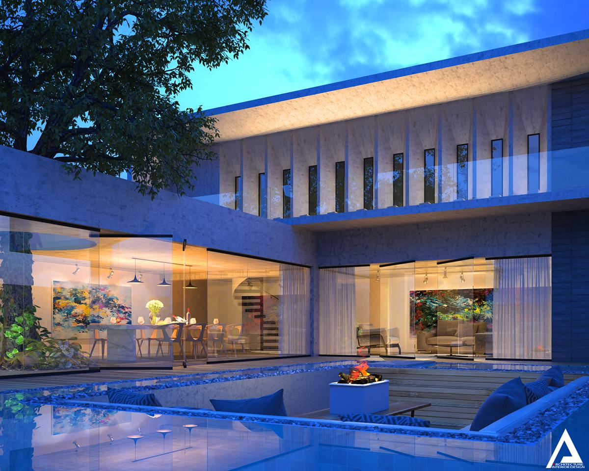 thiết kế Biệt Thự Villa hiện đại 35