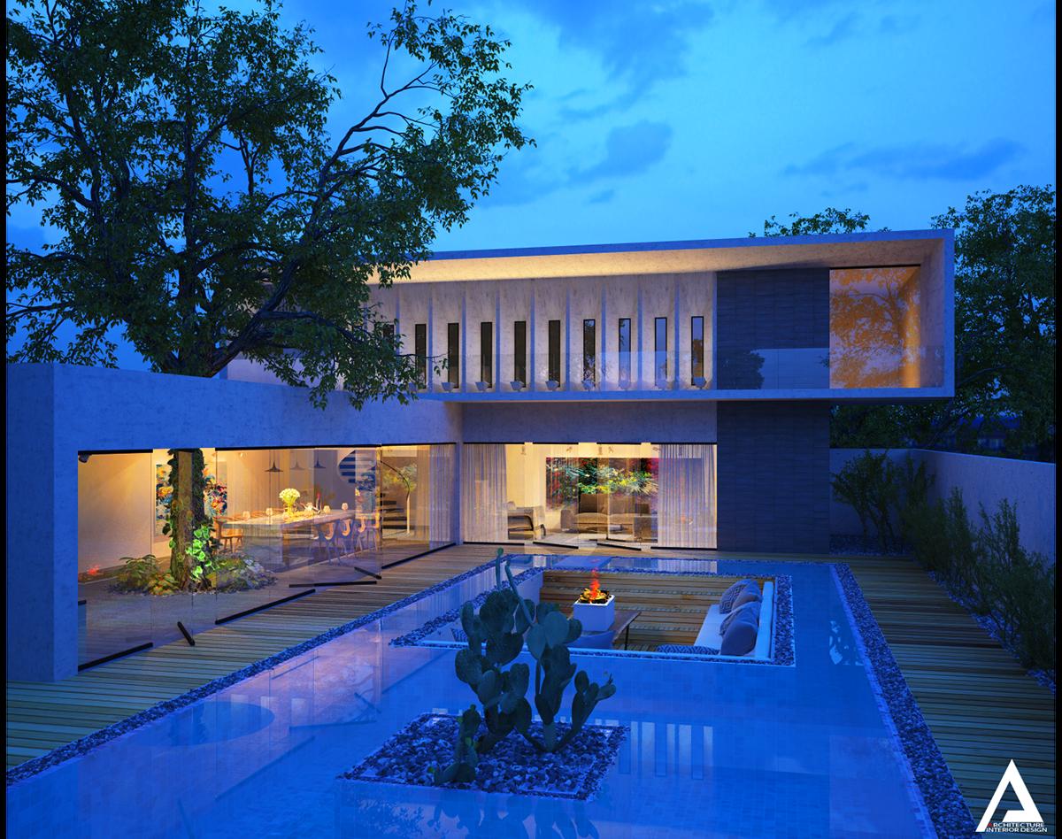 thiết kế Biệt Thự Villa hiện đại 1310