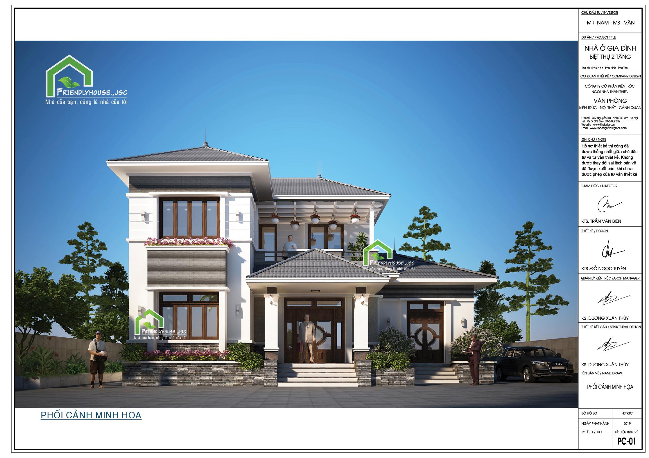 thiết kế Biệt Thự 2 tầng tại Phú Thọ Thiết kế biệt thự 2 tầng tại Phú Thọ 0 1564398697