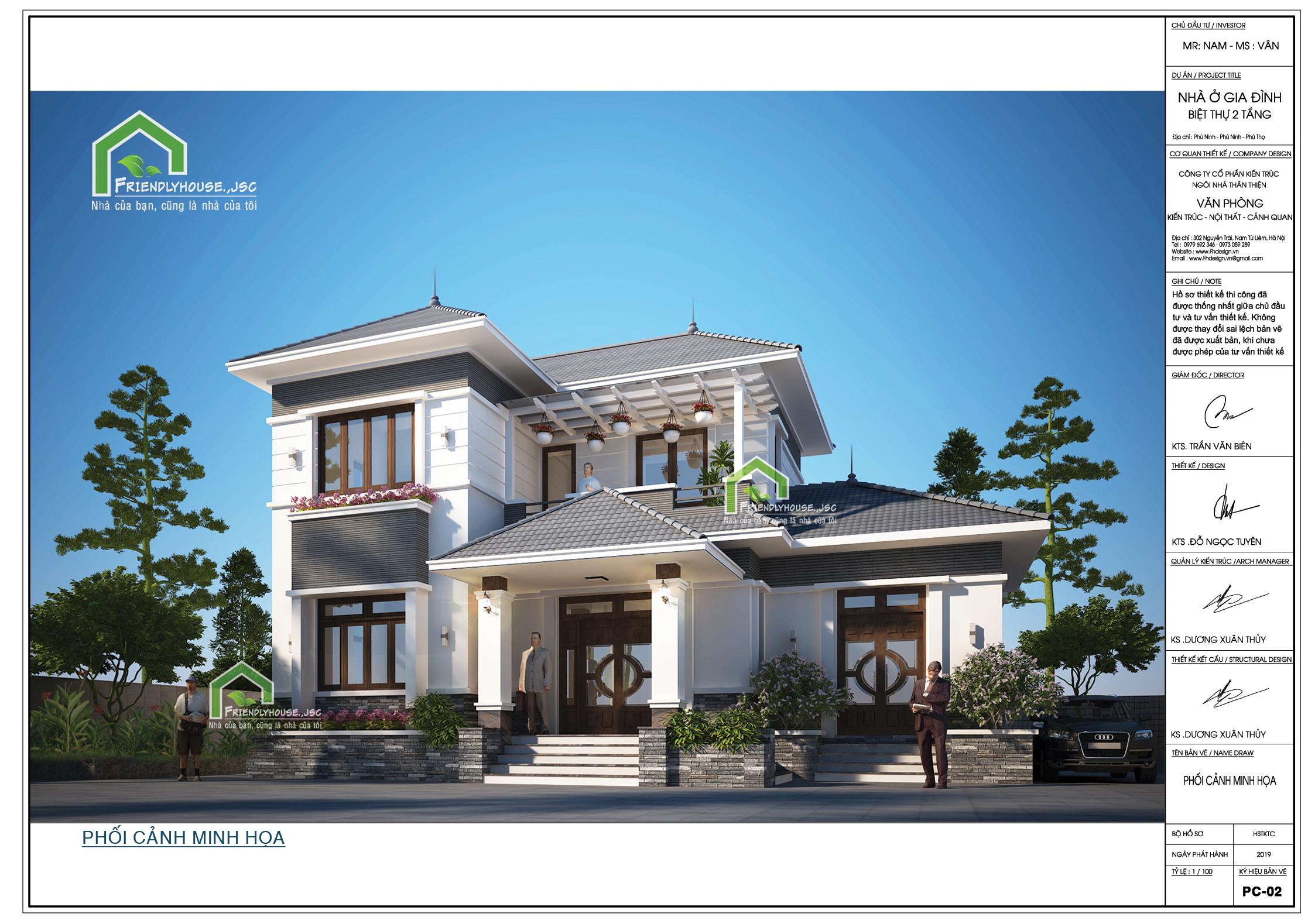 thiết kế Biệt Thự 2 tầng tại Phú Thọ Thiết kế biệt thự 2 tầng tại Phú Thọ 1 1564398697