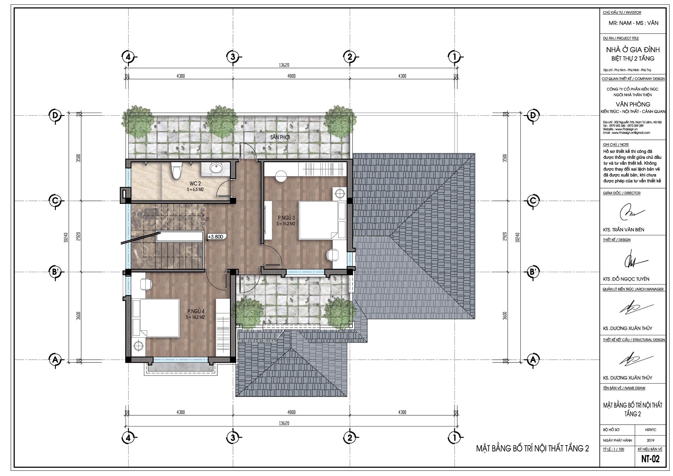 thiết kế Biệt Thự 2 tầng tại Phú Thọ Thiết kế biệt thự 2 tầng tại Phú Thọ 3 1564398697