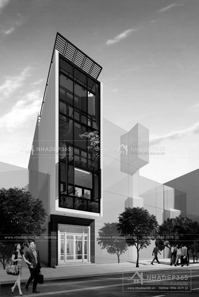 Thiết kế Nhà Mặt Phố tại Bắc Ninh Thiết Kế Nhà Phố 4 Tầng Diện Tích 4×16,5m Hiện Đại Tại Bắc Ninh 1589873213 4