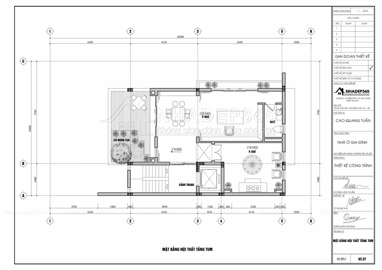 Thiết kế Nhà Mặt Phố tại Hà Nội Nhà Ở 5 Tầng Kết Hợp Văn Phòng Cho Thuê Diện Tích 10×20m 1589872780 22