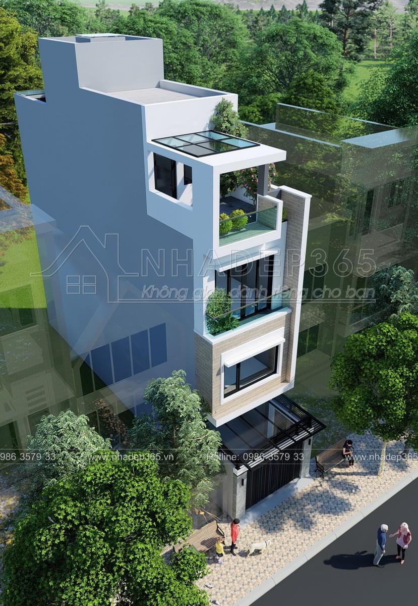 Thiết kế Nhà Mặt Phố tại Hà Nội Thiết Kế Nhà Phố 4 Tầng Diện Tích 3,7×17m Hiện Đại 1589872954 2
