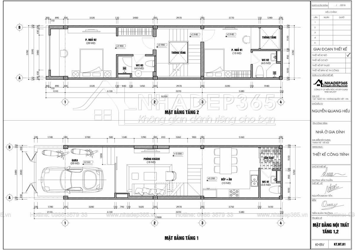 Thiết kế Nhà Mặt Phố tại Hà Nội Thiết Kế Nhà Phố 4 Tầng Diện Tích 3,7×17m Hiện Đại 1589872954 4