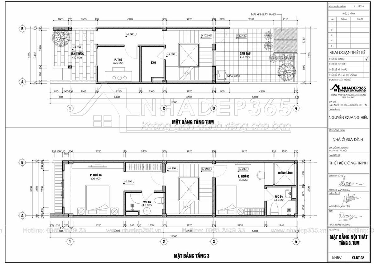 Thiết kế Nhà Mặt Phố tại Hà Nội Thiết Kế Nhà Phố 4 Tầng Diện Tích 3,7×17m Hiện Đại 1589872954 5