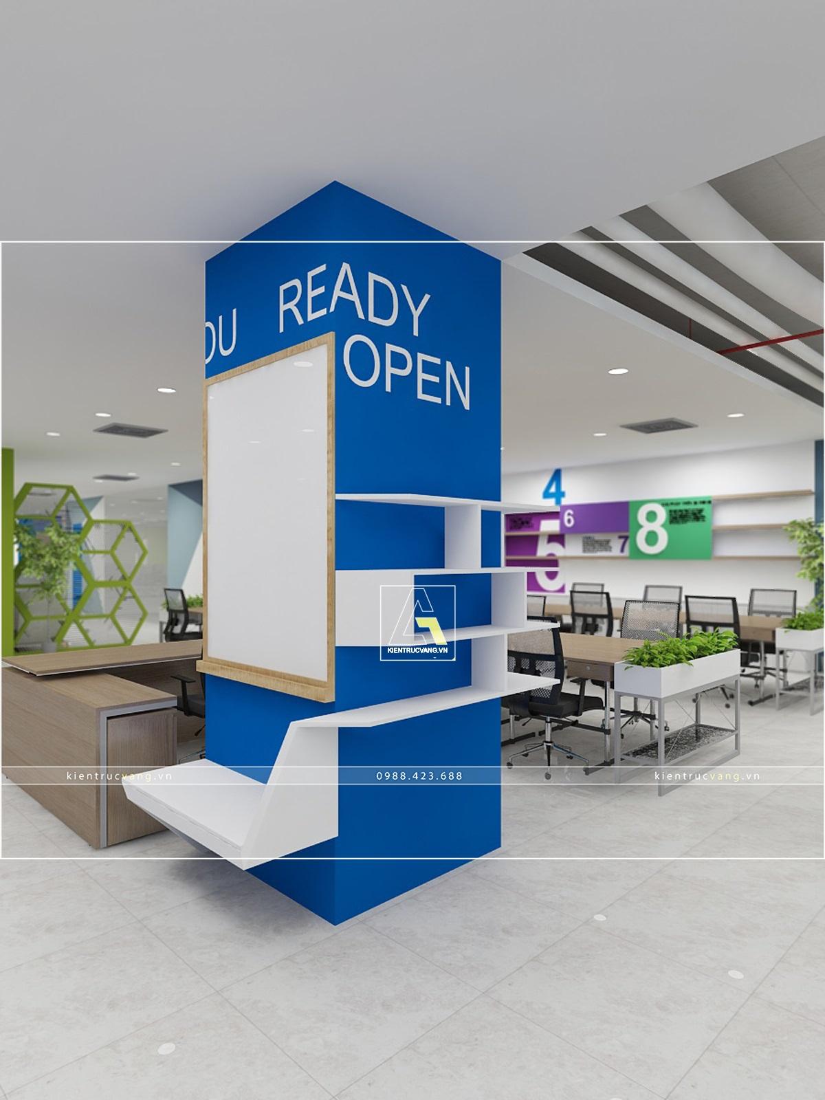 thiết kế nội thất Văn Phòng tại Hà Nội Thiết kế nội thất văn phòng VTC Mobile Hà Nội 24 1530872957
