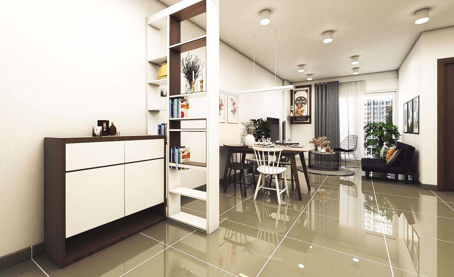 Thiết kế nội thất Chung Cư tại Hồ Chí Minh CĂN HỘ CHỊ TRÚC Q8 1576045381 21
