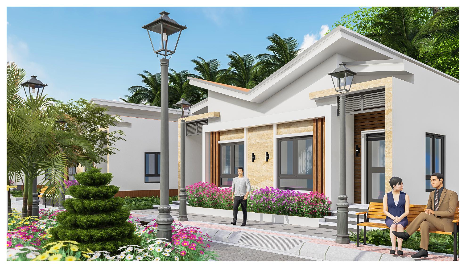 thiết kế Resort Khu Nhà Ở Dòng Họ110