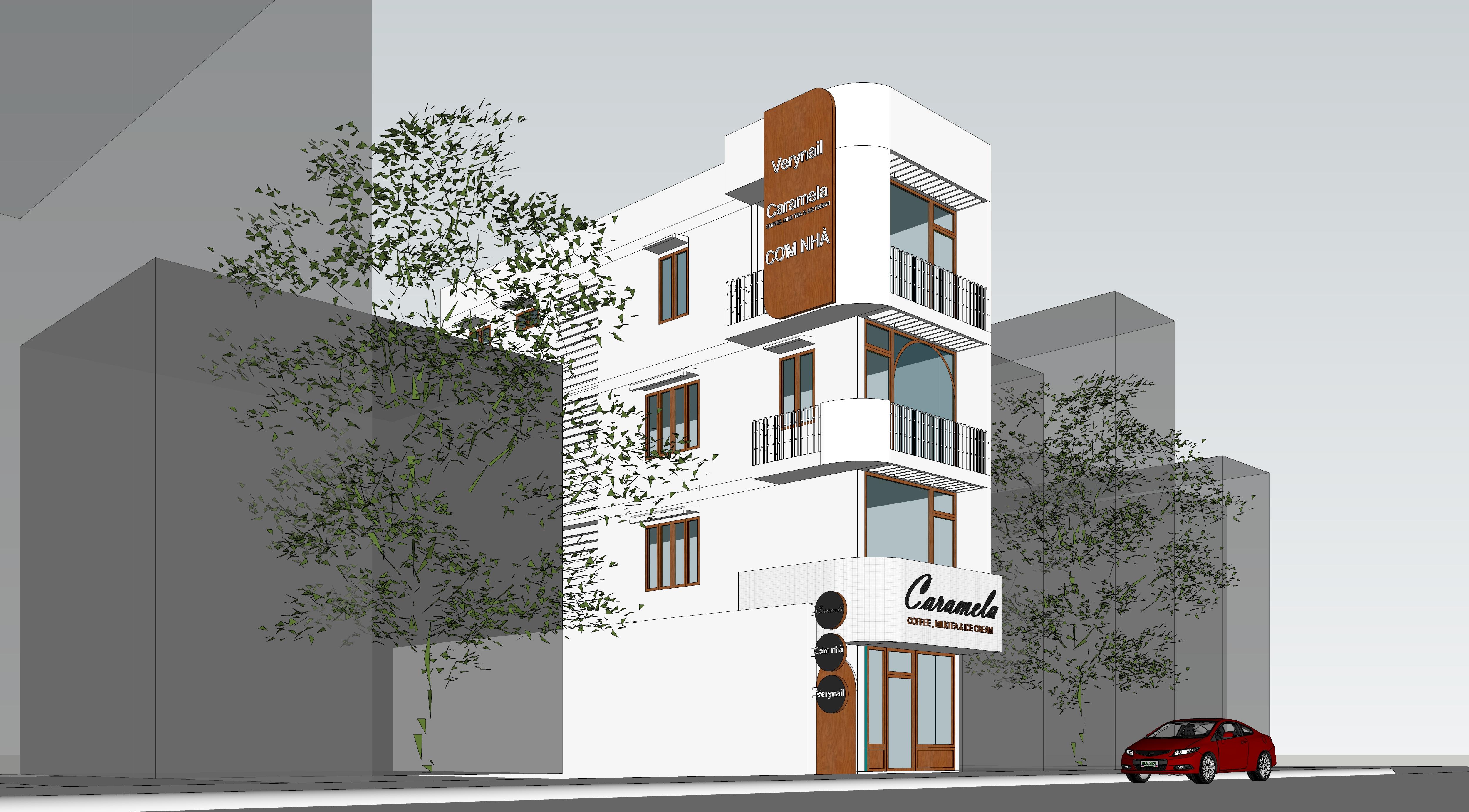 Thiết kế nội thất Cafe tại Hồ Chí Minh Coffee Caramela 1574832886 5
