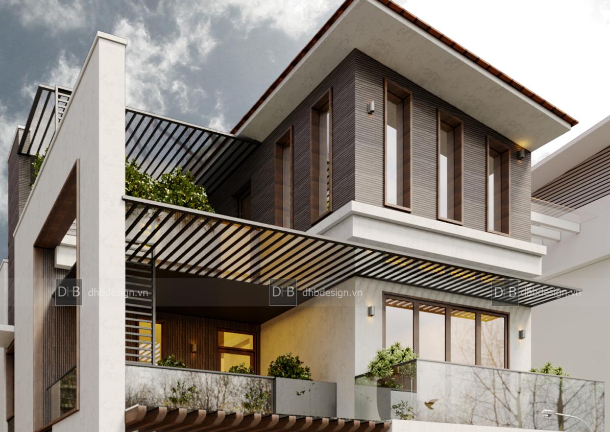 thiết kế Biệt Thự 3 tầng tại Hà Nội Biệt Thự Phố 10 1553137925