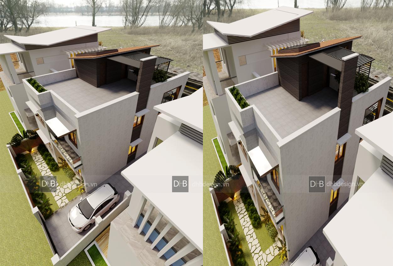 thiết kế Biệt Thự 3 tầng tại Hà Nội Biệt Thự Phố 1 1553137924