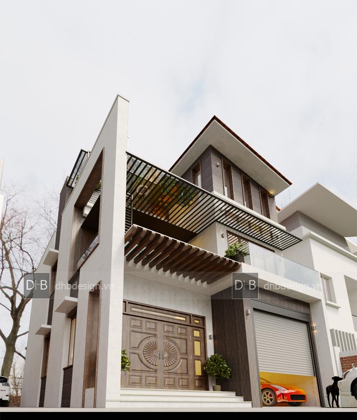 thiết kế Biệt Thự 3 tầng tại Hà Nội Biệt Thự Phố 12 1553137926