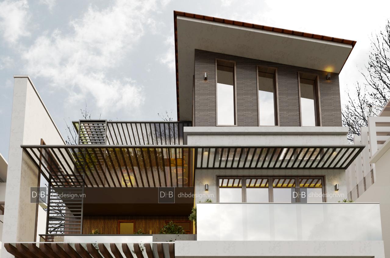 thiết kế Biệt Thự 3 tầng tại Hà Nội Biệt Thự Phố 15 1553137928