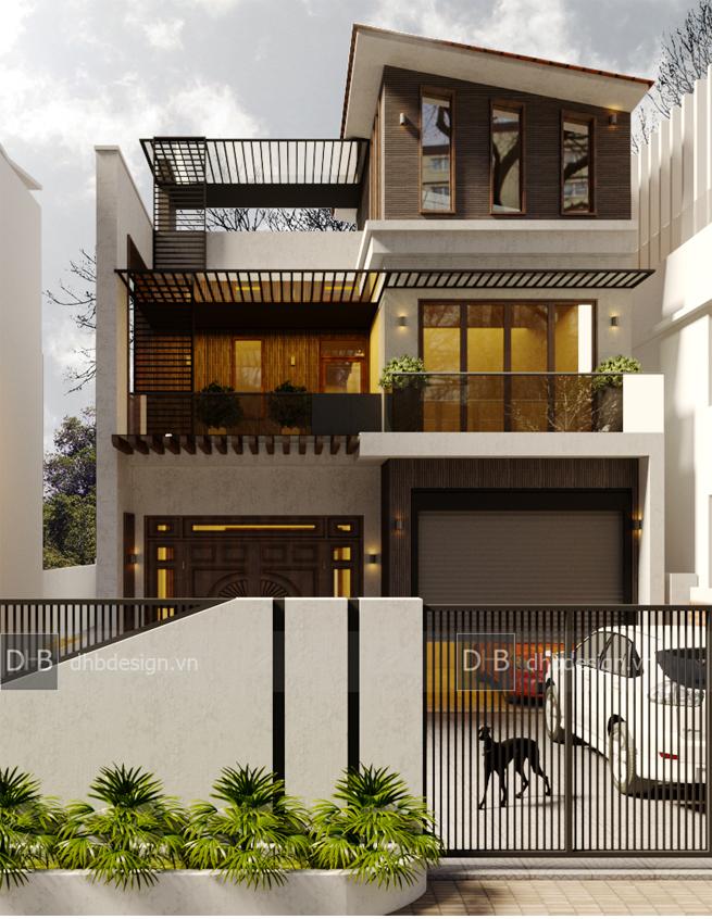 thiết kế Biệt Thự 3 tầng tại Hà Nội Biệt Thự Phố 2 1553137922