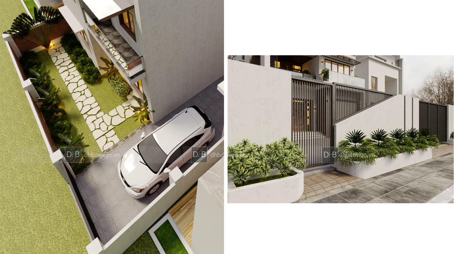 thiết kế Biệt Thự 3 tầng tại Hà Nội Biệt Thự Phố 4 1553137924