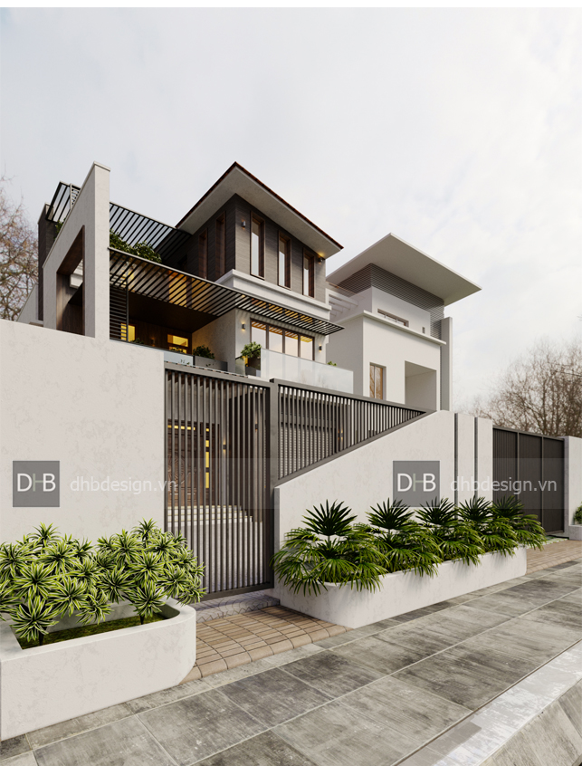 thiết kế Biệt Thự 3 tầng tại Hà Nội Biệt Thự Phố 5 1553137923