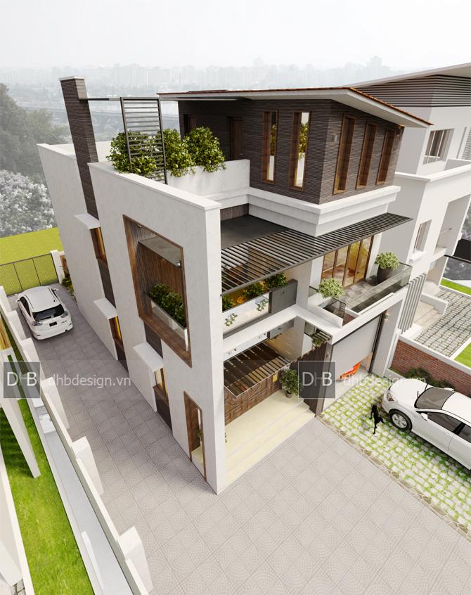 thiết kế Biệt Thự 3 tầng tại Hà Nội Biệt Thự Phố 6 1553137924