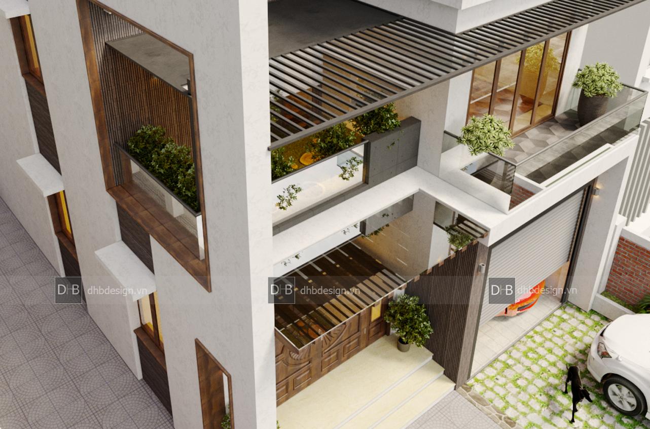 thiết kế Biệt Thự 3 tầng tại Hà Nội Biệt Thự Phố 9 1553137926